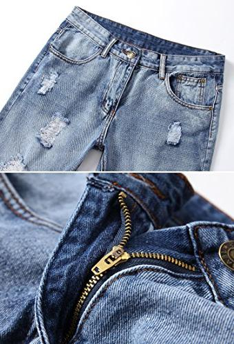 FEESON Slim Fit Vintage with Holes