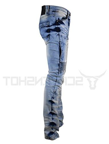 SCREENSHOTBRAND-P41810 Men's Premium Biker Denim Pants Skinny Fit Stretch Fahion
