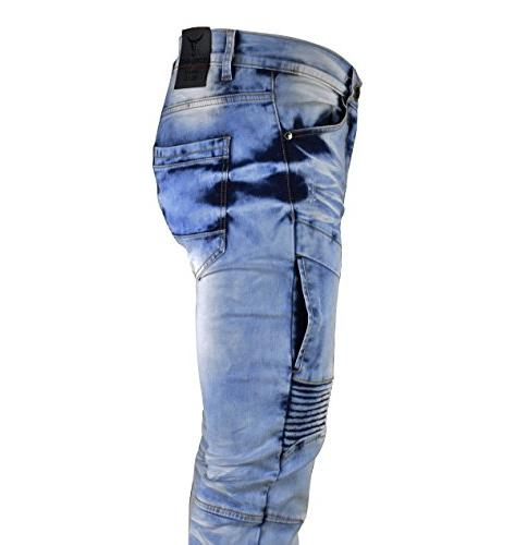 SCREENSHOTBRAND-P41810 Biker Pants Skinny Fit Fahion Jeans-Dk