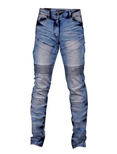 SCREENSHOTBRAND-P41810 Men's Biker Denim - Skinny Stretch Spandex Fahion