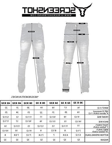 SCREENSHOTBRAND-P41810 Men's Premium Biker Denim Pants Skinny Stretch Fahion Jeans-Dk