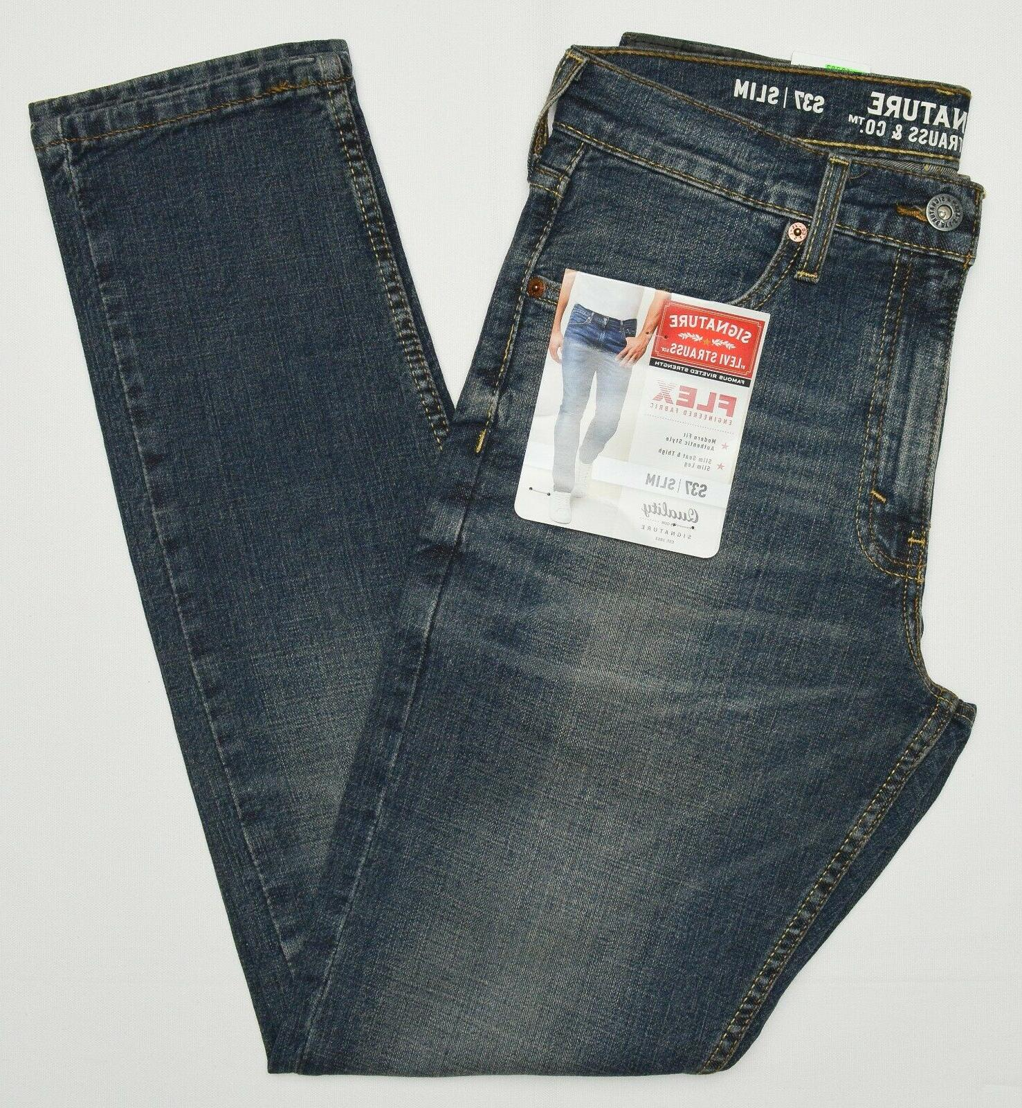 Signature By Levi & Co. #10282 Men S37 Slim