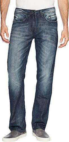 Buffalo David Bitton  Men's Six Straight Leg Jeans in Whiske