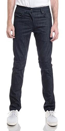 URBAN K Men's Skinny Fit Jeans, Indigo Blue, 36x30