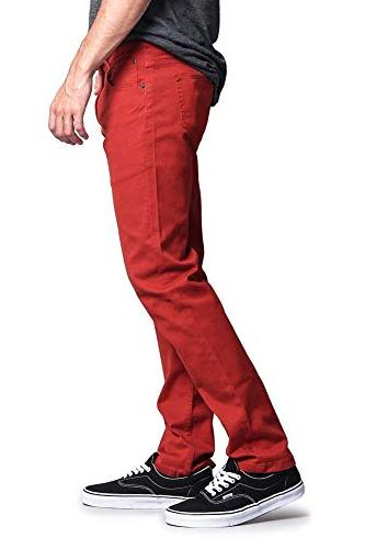 Victorious Skinny Colored Jeans DL937 - Burnt