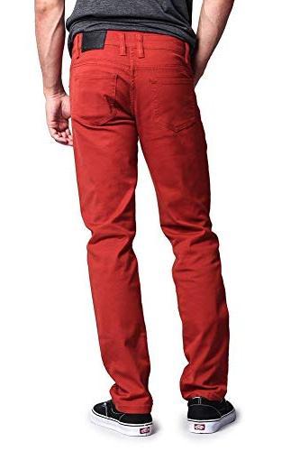 Victorious Men's Skinny Fit Colored DL937 Burnt Orange
