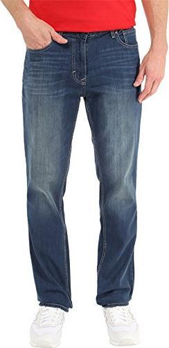 Calvin Klein Men's Slim Straight Pant, Authentic Blue, 34W x