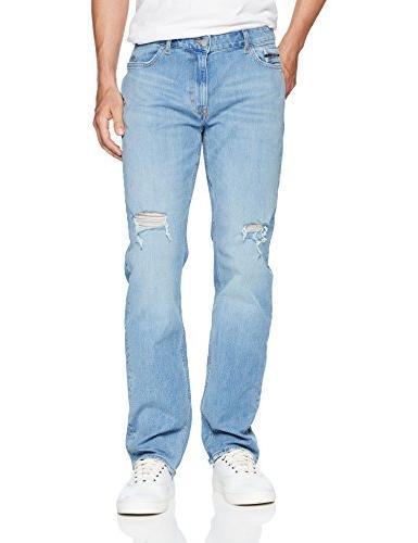 slim straight fit denim jean