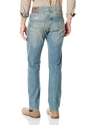 Signature Levi Strauss & Co Men's Slim Straight Jean, Napa,