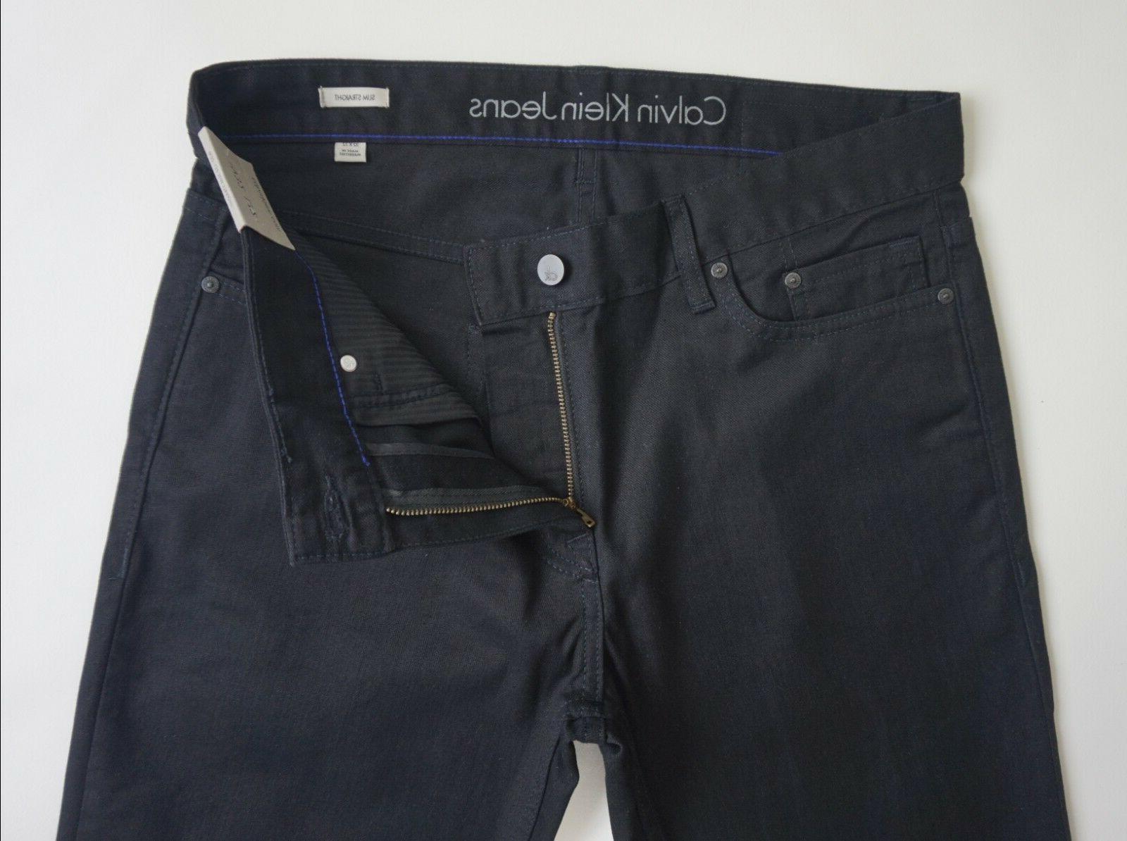 CALVIN LEG BLACK Jeans Men's, Authentic