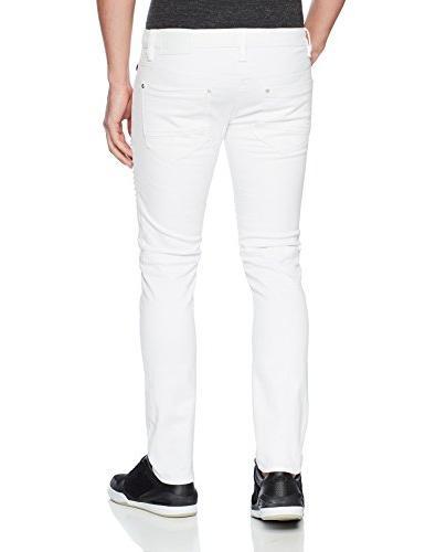 Southpole Men's Stretch White, 42X34
