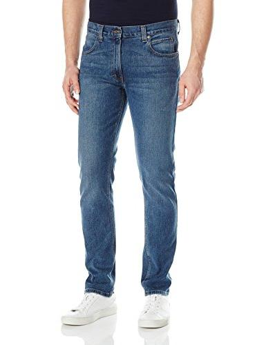 slim taper 5 pocket jean