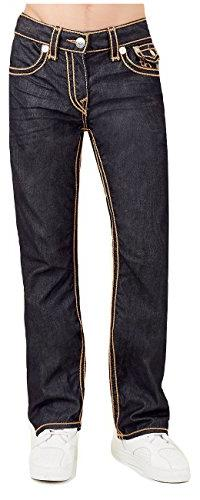 True Religion Men's Straight Leg Relaxed Fit Big T Rope Stit