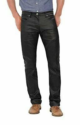 stretch casual leather pants apl44798sk