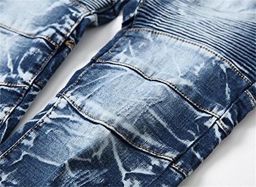 Aiyino Men's Stylish Straight Stitching Moto
