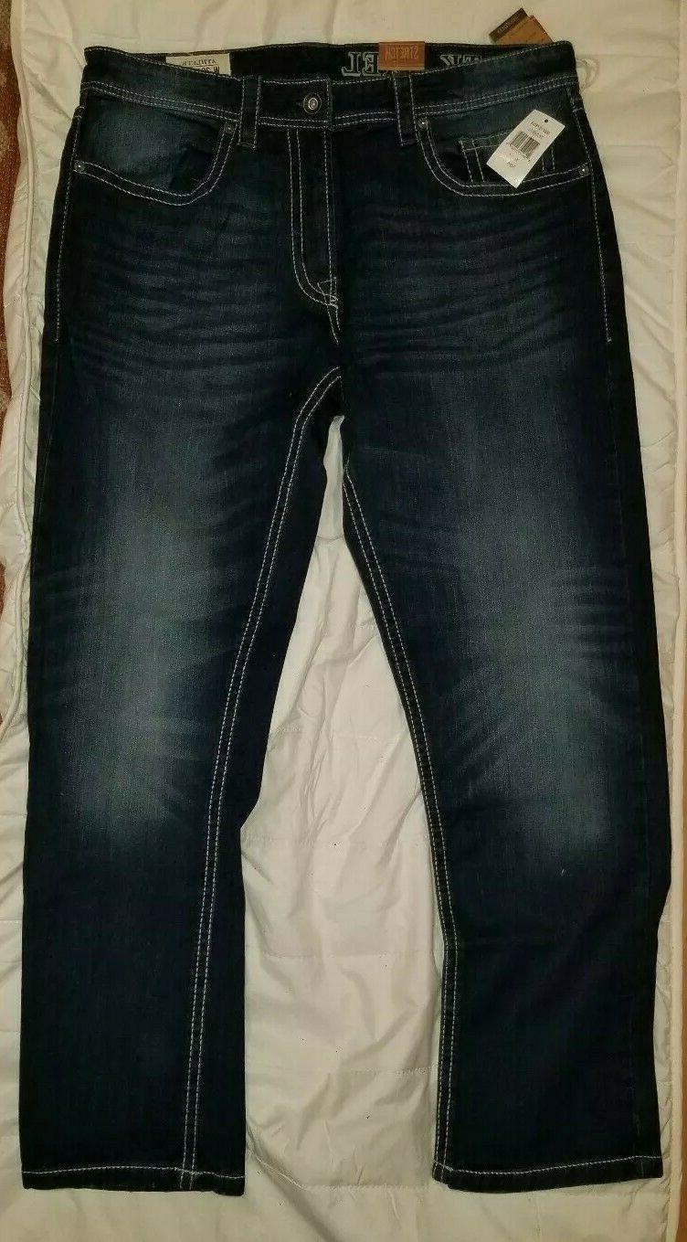 T.K. AXEL JEANS PICK 34 STRETCH ATHLETIC FIT BIG TALL NEW