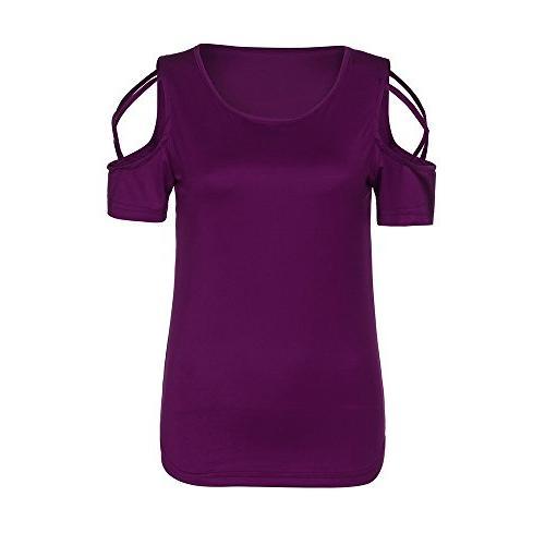 POHOK Sleeve Crisscross Shoulder T-Shirt
