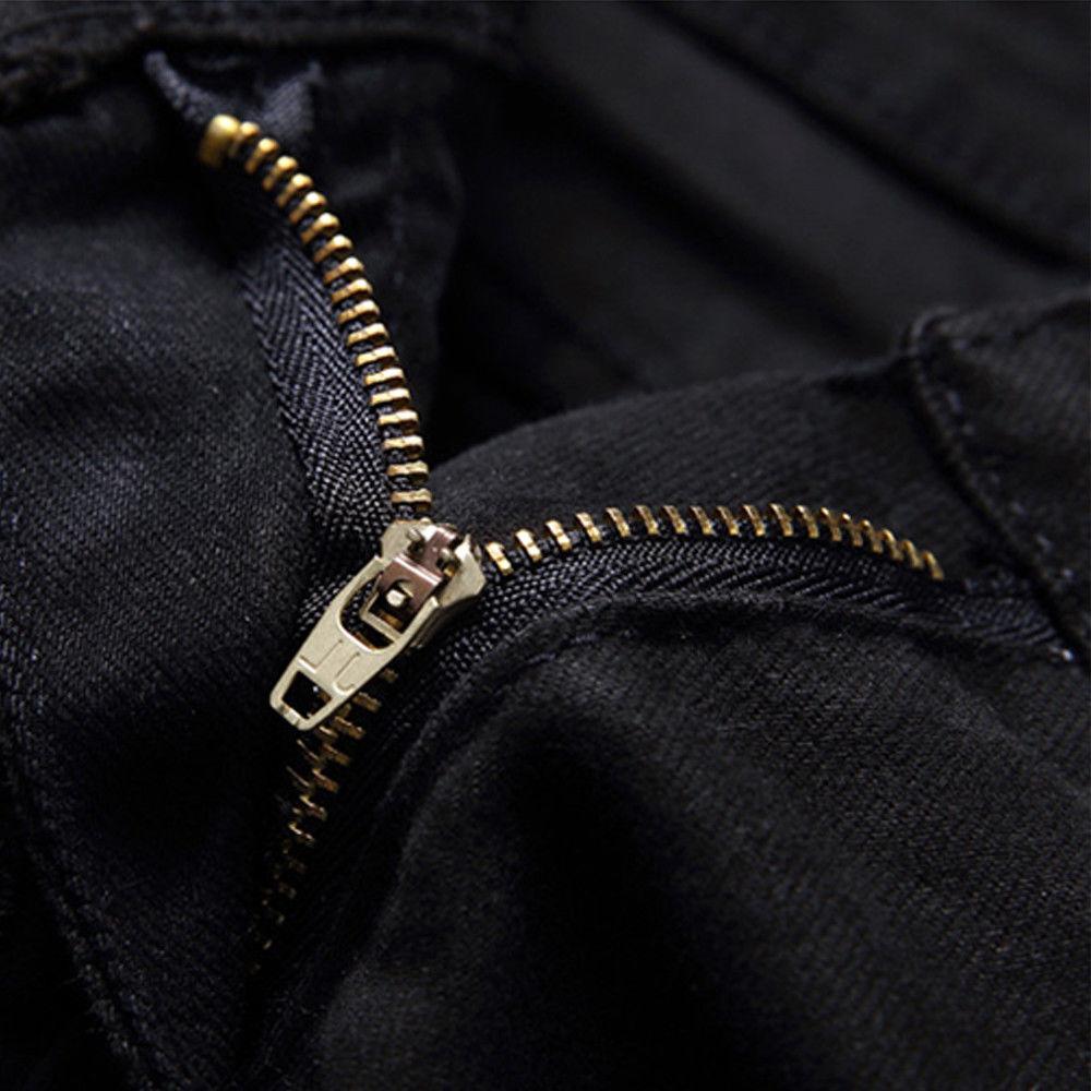 Trendy Skinny Distressed Zipper Ripped Jeans