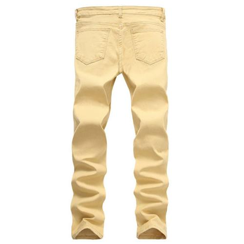 Men's Slim Denim Jeans Skinny Pants