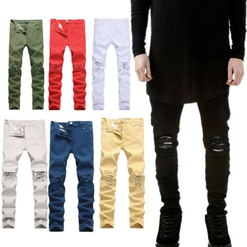men s fashion slim stretch denim jeans