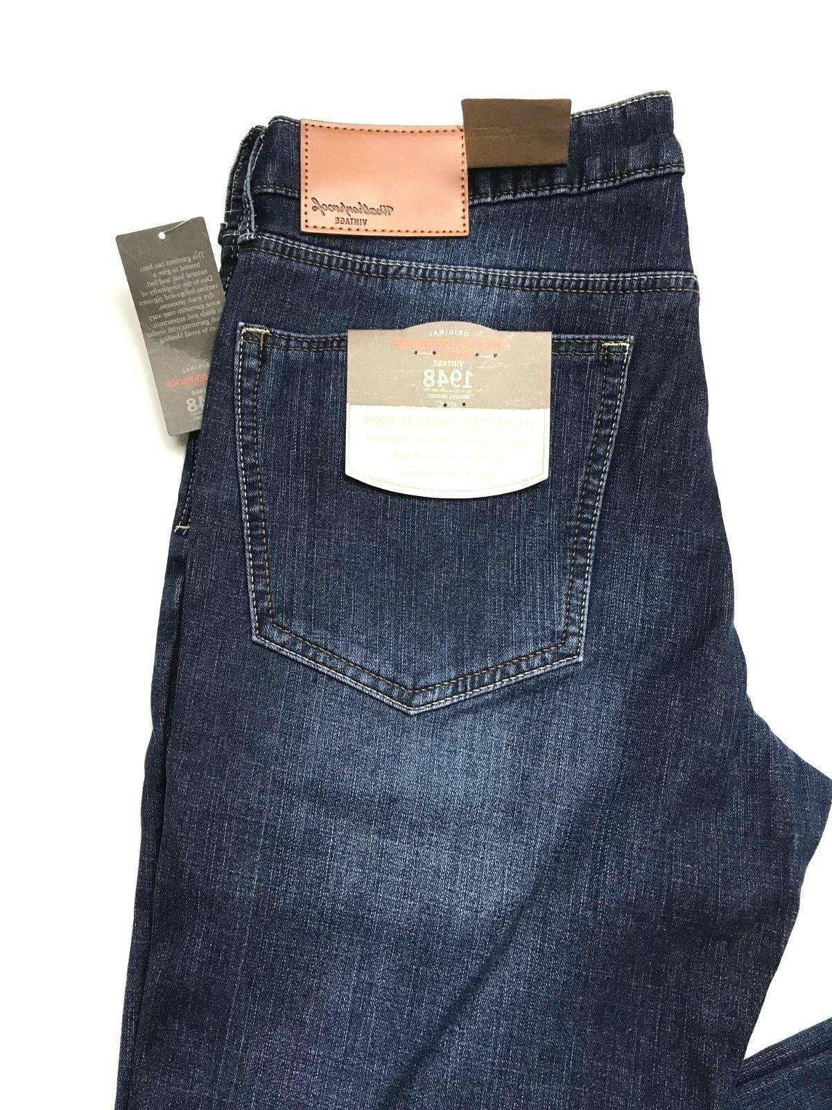 Weatherproof 1948 Fleece-Lined Jeans Classic Straight Leg