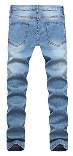 OKilr Pjik Light Skinny Destroyed Stretch Jeans