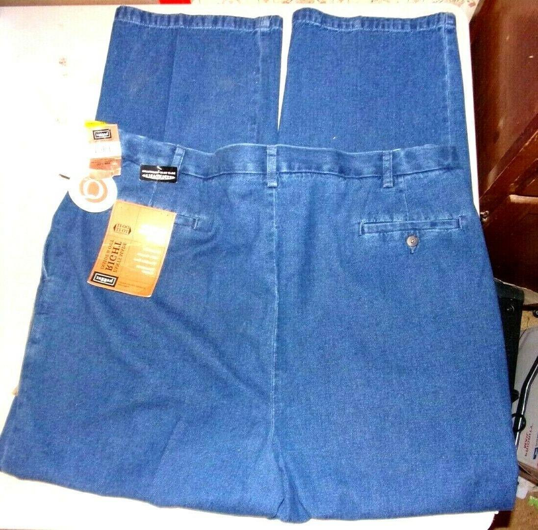 Haggar Weekend Denim Blue Khakis - Mens 44x32 New w/Tags!