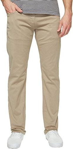 Mavi Men's Zach Regular-Rise Straight-Leg Jeans, Beige Twill