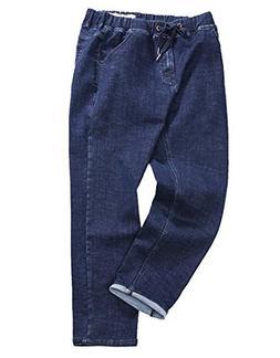 LD Mens High Waist Plus Size Solid Stretch Jeans Denim Pants
