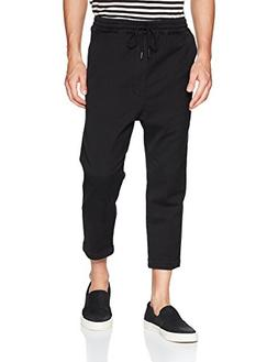 Hudson Jeans Men's Leo Drop Crotch Jogger, Black, XL