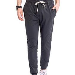 Leoy100 Casual Men Pocket Overalls Sport Work Casual Trouser