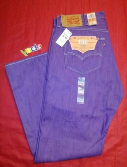 LEVI'S 501 SHRINK TO FIT RAW UNWASHED DENIM JEANS PURPLE WAS