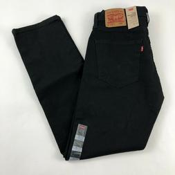 Levi's 502 Jeans Men's 32 x 32 Regular Taper Fit Black Stret