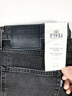 Levi's 502 Made & Crafted Distressed Black Jeans Denim Men's