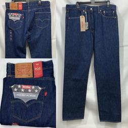 Levi's 505 Jeans Men's 35x32 MADE IN USA White Oak Cone Deni