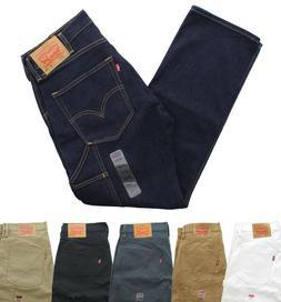 Levi's 505 Men's Carpenter Jeans Straight Leg Blue Jean Pant