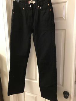 Levi's 505 Men's Regular Fit Jean, 34x32 Black - New Without