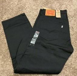 Levi's 505 Regular Fit Straight Leg Jeans Dark Gray Mens Siz