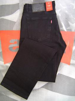 LEVI'S 511 MEN'S SLIM FIT ZIP FLY STRETCH JEANS BLACK