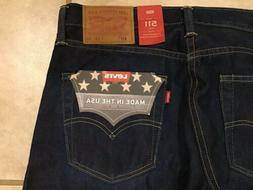 Levi's 511 Slim Fit White Oak Cone Denim Jeans USA Selvedge