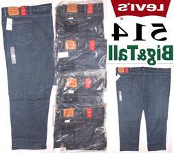 Levi's 514 Men's Straight Fit Stretch Jeans Big & Tall #2872