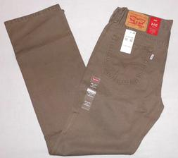 LEVI'S 514 MEN'S STRAIGHT PADOX CANVAS PANTS JEANS EARTH BRO