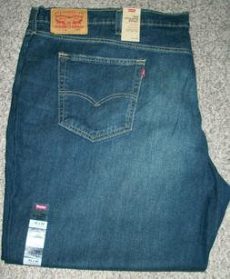 LEVI'S 541 Athletic Fit Tapered Leg Wash Blue Stretch Denim