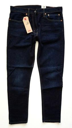 Levi's Levis Nwt 512 Slim Taper Blue Heart Dark Wash Stretch