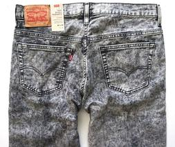 Levi's Levis Nwt 569 Black White Wash Stretch Loose Straight