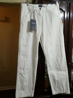 Levi's Men's 33x30 Stay Loose Carpenter Pants Green Baggy Fi
