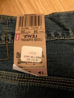 Levi's Men's 36 x 30 Jeans Carpenter Loose Straight Medium W