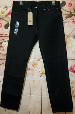 Levi's Men's 36W x 32L 505 Regular Fit Jeans, Black, NWT