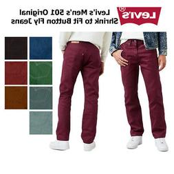 Levi's Men's 501 Original Shrink to Fit Button Fly Jeans