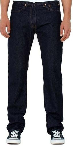 Levi's Men's 505 Dark Blue Jeans Size 33 x 34 Regular Fit Pa